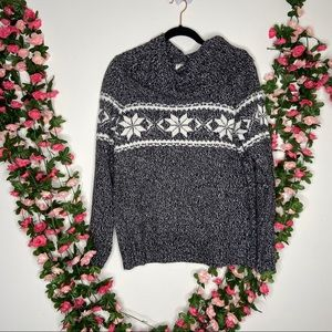 Dress barn gray knit Womens sweater large